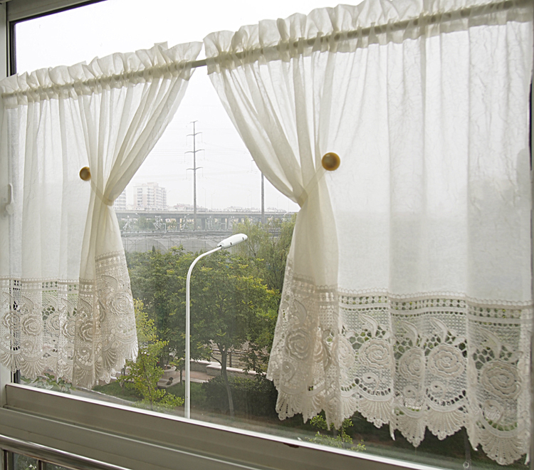 ... White Lace Kitchen Curtains Photo   2 ...