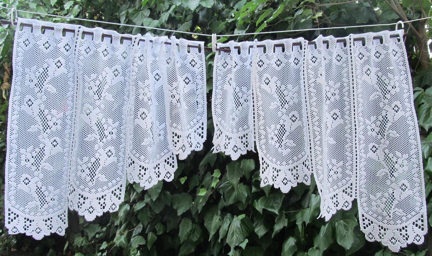 White lace kitchen curtains Photo - 3