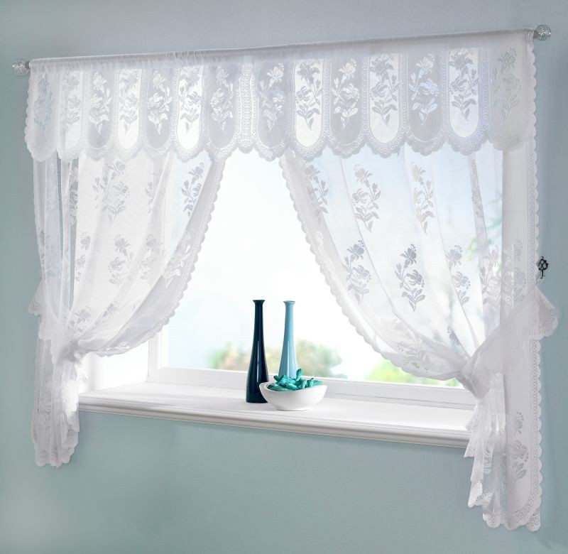 White lace kitchen curtains Photo - 4