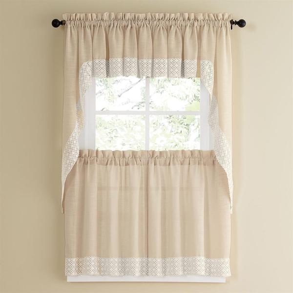 White lace kitchen curtains Photo - 5