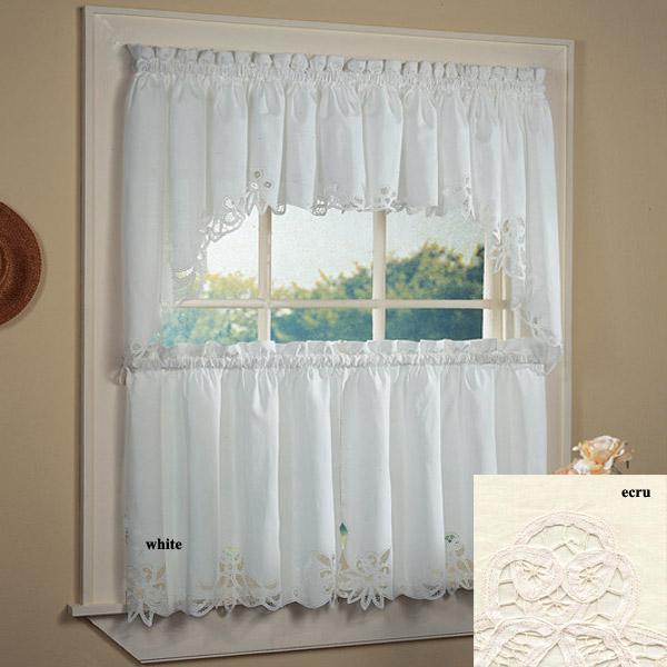 White Lace Kitchen Curtains Photo 8 Kitchen Ideas