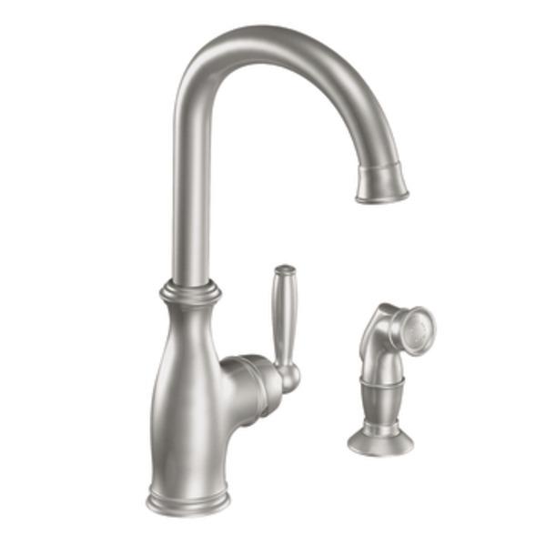 White moen kitchen faucet Photo - 11