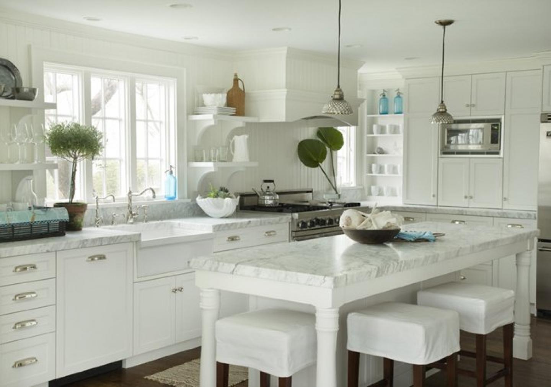 White stools for kitchen Photo - 9