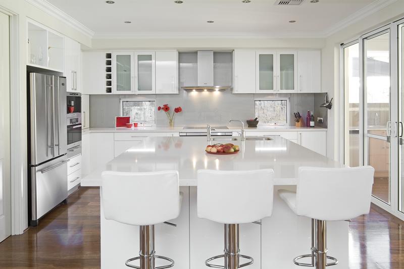 White stools for kitchen Photo - 2