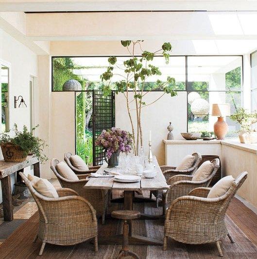 Wicker kitchen chairs Photo - 2