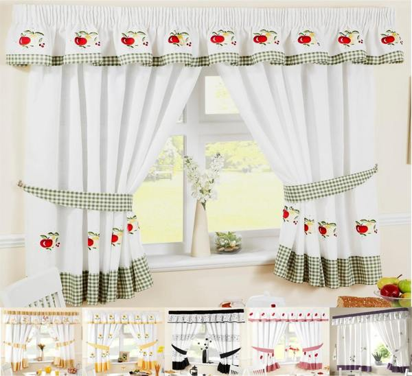 Window curtains for kitchen Photo - 11