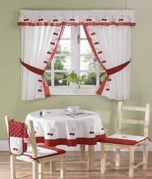 Window curtains for kitchen Photo - 12