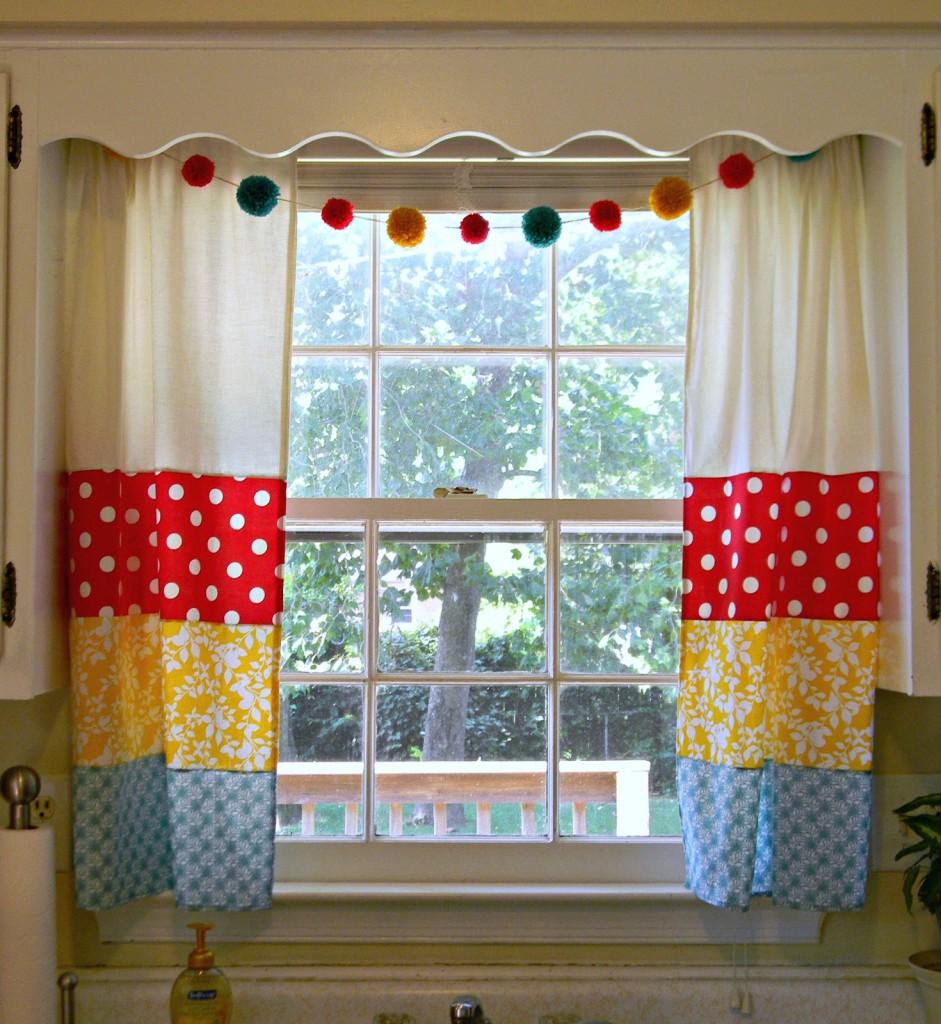 Сшить оригинальные шторы на кухню 36