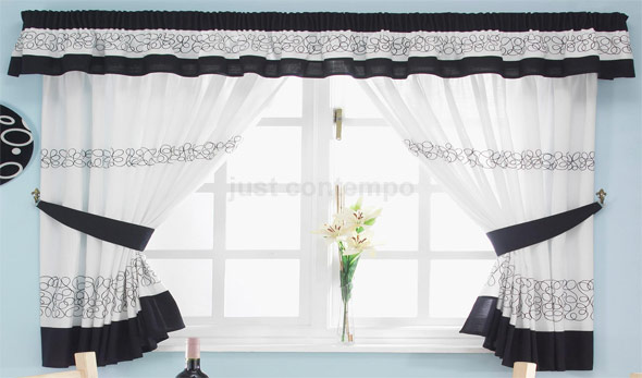 Window curtains for kitchen Photo - 8