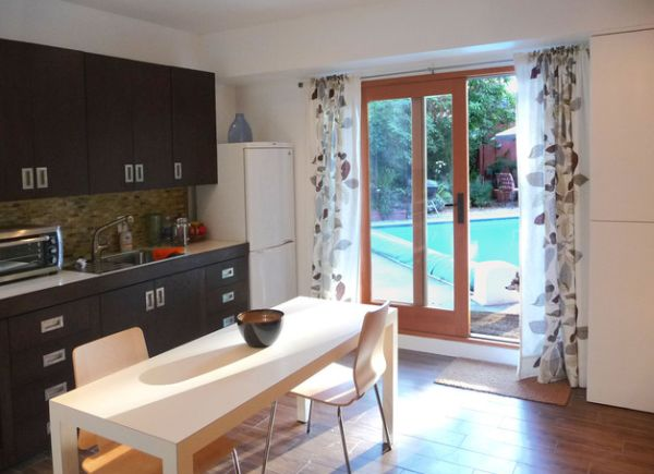 Window treatments for sliding glass doors in kitchen Photo - 12