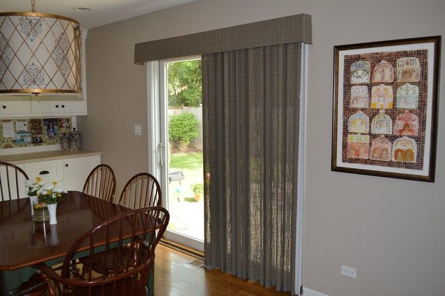 Window treatments for sliding glass doors in kitchen Photo - 2