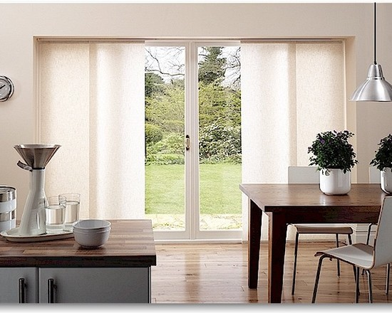 Window treatments for sliding glass doors in kitchen Photo - 7