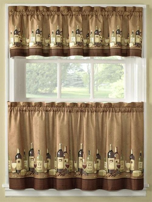 Wine kitchen curtains Photo - 1
