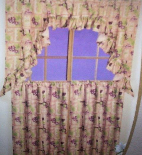 Wine kitchen curtains Photo - 7