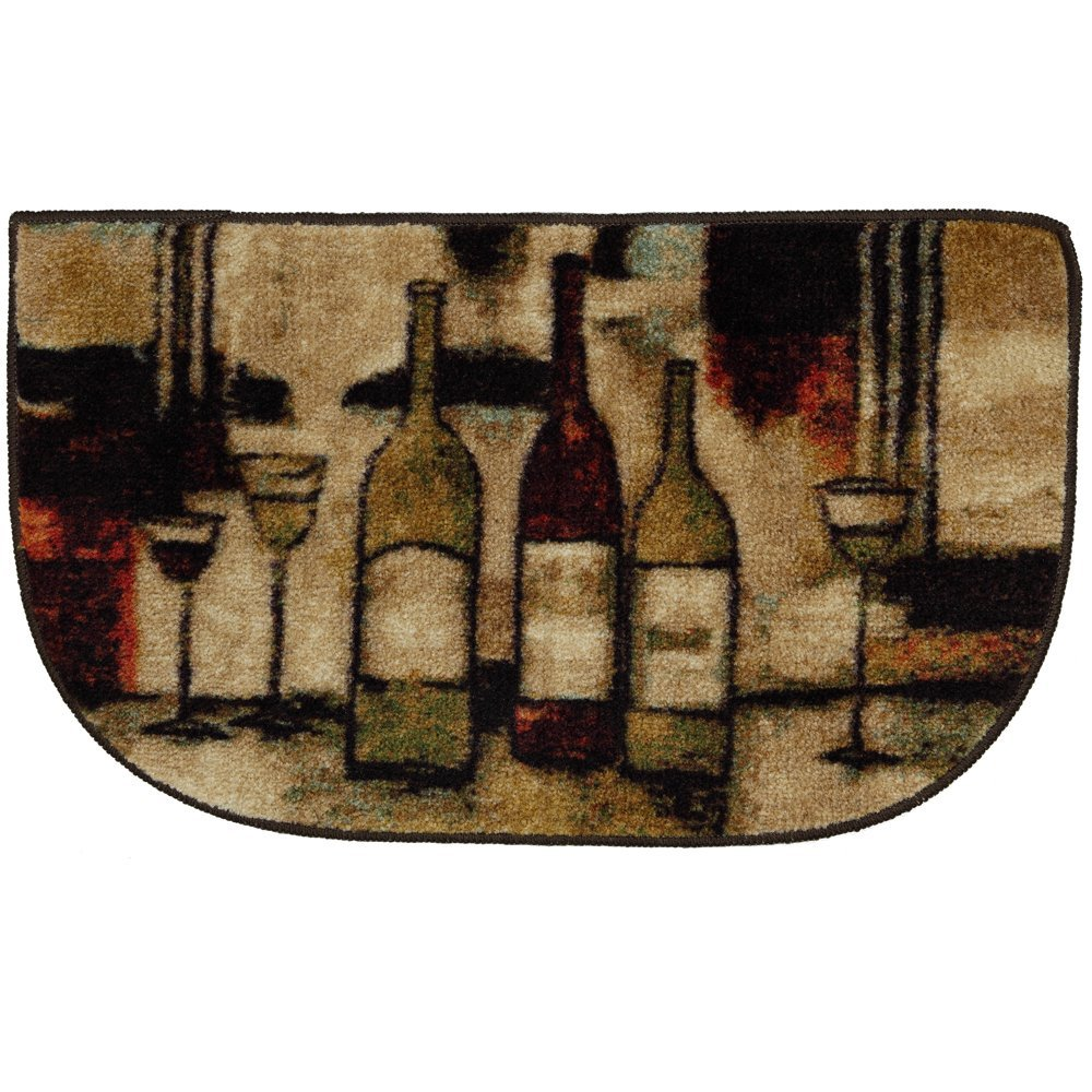 Wine Kitchen Rugs Mohawk Home Wine And Glasses Three