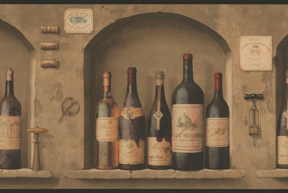 Wine themed kitchen rugs Photo - 5