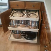 Wire slide out shelves for kitchen cabinets Photo - 1