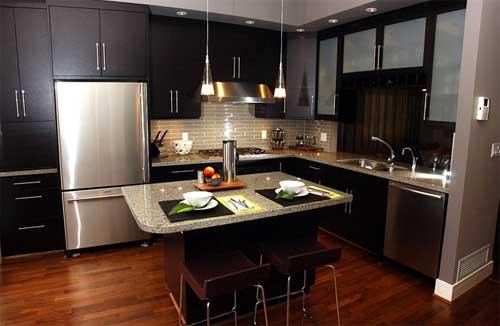 Wood kitchen pantry cabinet Photo - 5