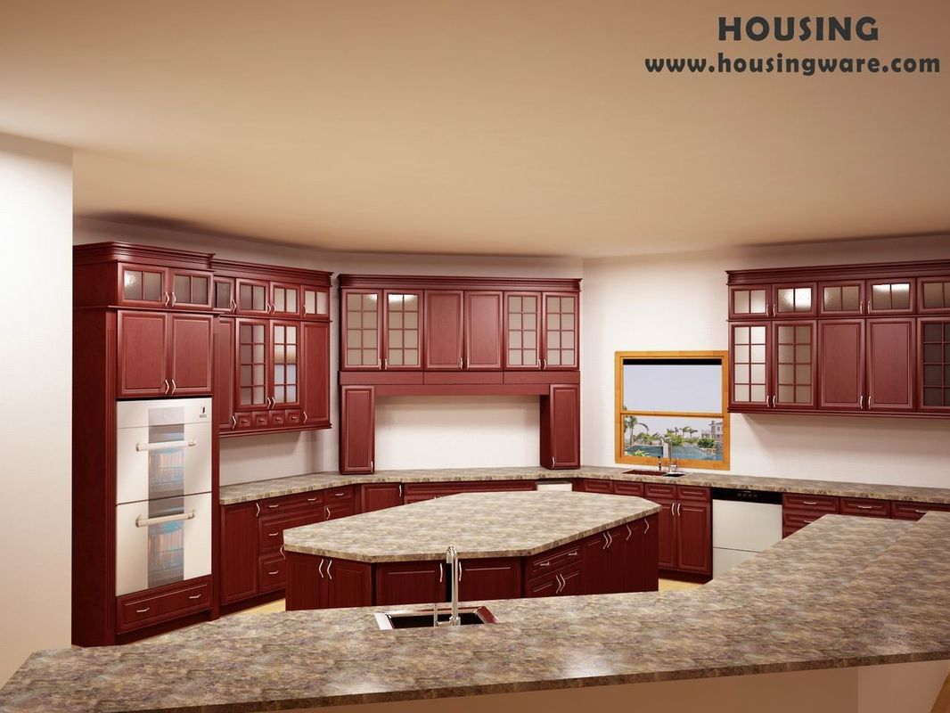 Wood kitchen pantry cabinet Photo - 6