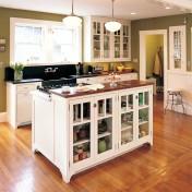 Wood top kitchen island Photo - 1