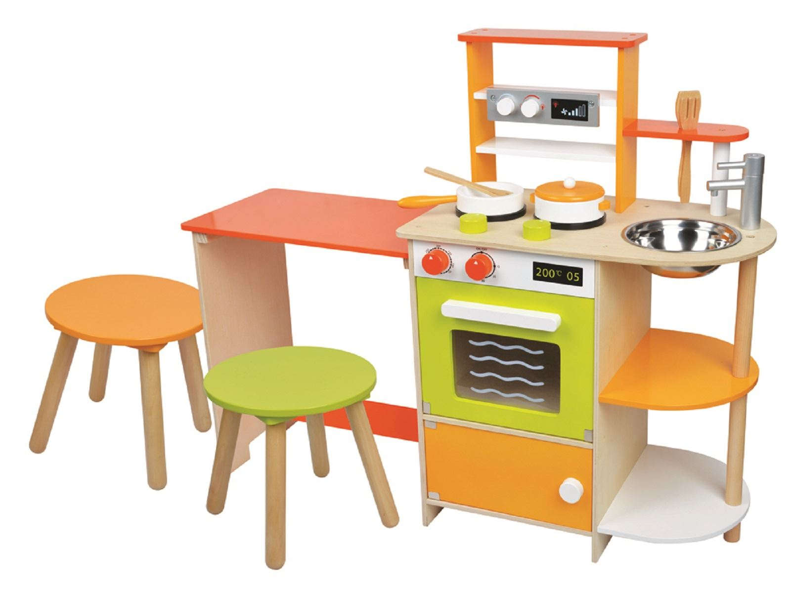 Wooden childrens kitchen set kitchen ideas for Kitchen kitchen set