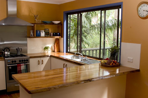 Wooden kitchen bench Photo - 4