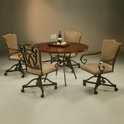 Wooden kitchen chairs with arms Photo - 1