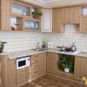 Wooden kitchen pantry cabinet Photo - 1