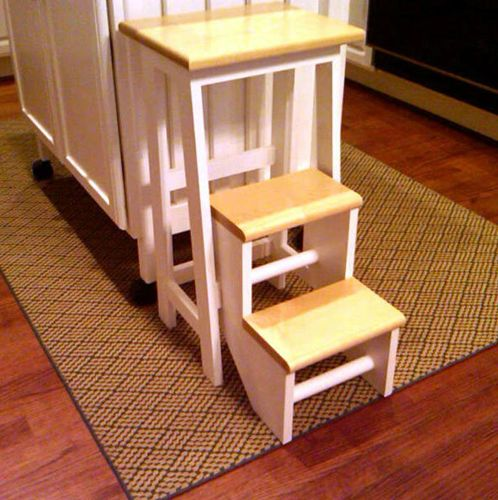 Wooden kitchen step stool Photo - 5