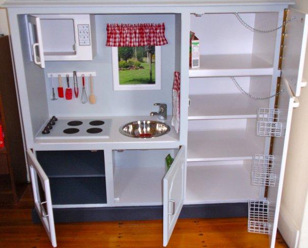 Wooden Play Kitchen Plans wooden childrens kitchen set. teamson kids 2 pc classic wooden