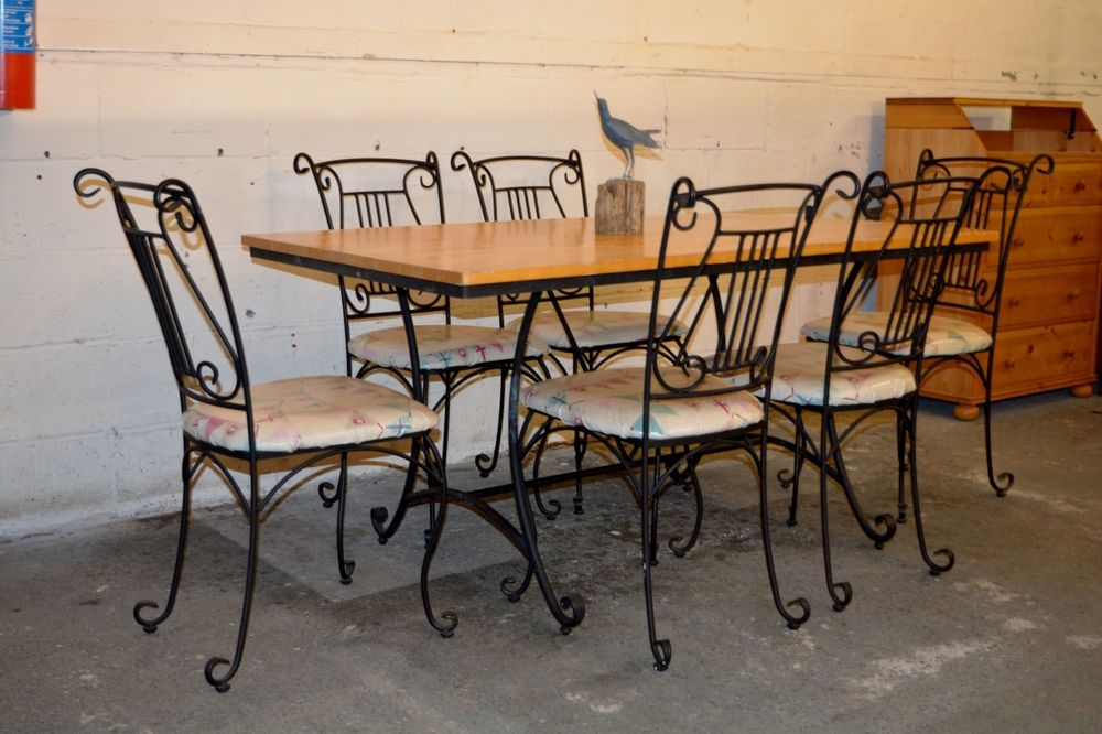 Wrought iron kitchen table and chairs kitchen ideas post navigation workwithnaturefo