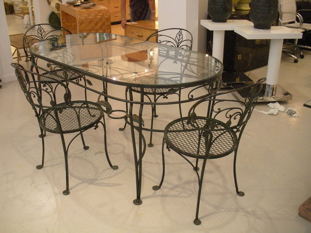 Rod Iron Table And Chairs Part - 23: 10 Photos To Wrought Iron Kitchen Table And Chairs