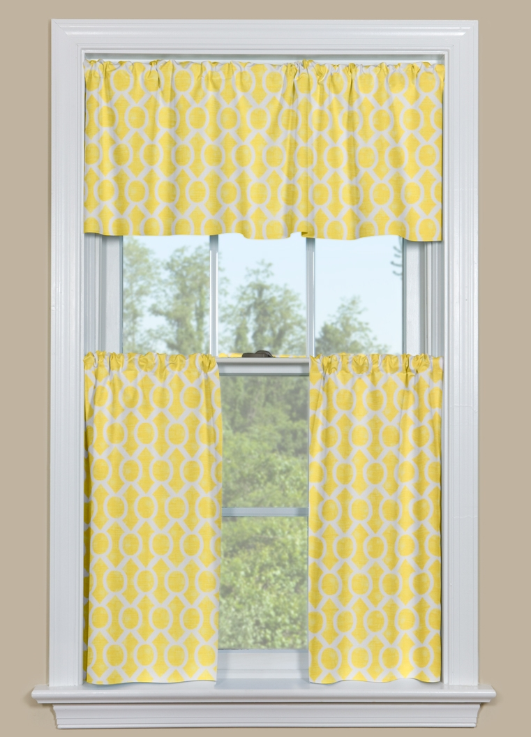 Blue and white kitchen curtains -  Yellow And Blue Kitchen Curtains Photo 3