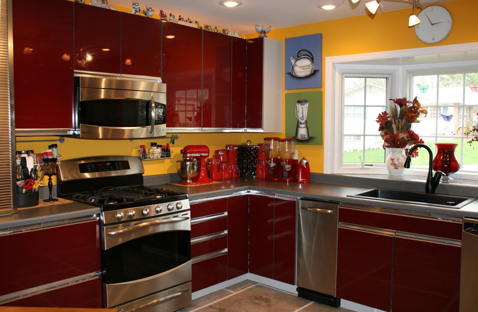 attractive Red Appliances For Kitchen #5: Yellow Kitchen Appliances | Kitchen Ideas