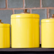 Yellow kitchen canisters Photo - 1