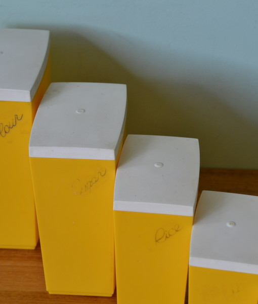 Yellow kitchen canisters Photo - 10
