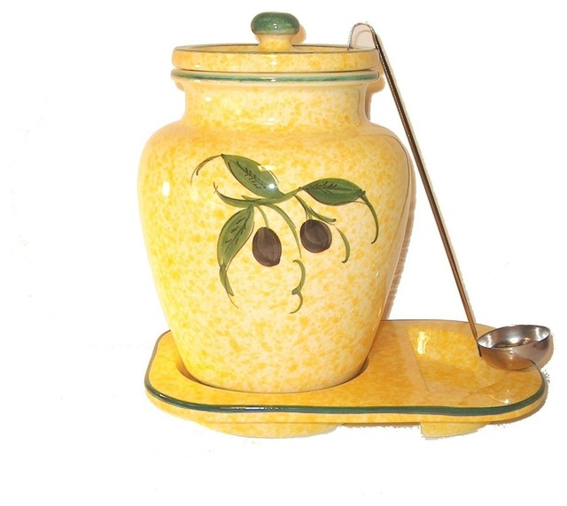 Yellow kitchen canisters Photo - 4