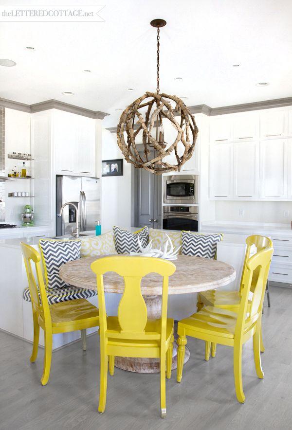 Yellow kitchen chairs Photo - 4