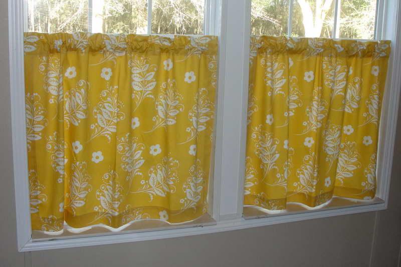 Yellow Kitchen Curtains Ideas