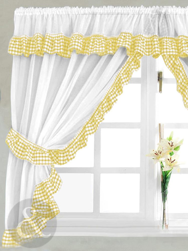 Yellow kitchen curtains Photo - 3