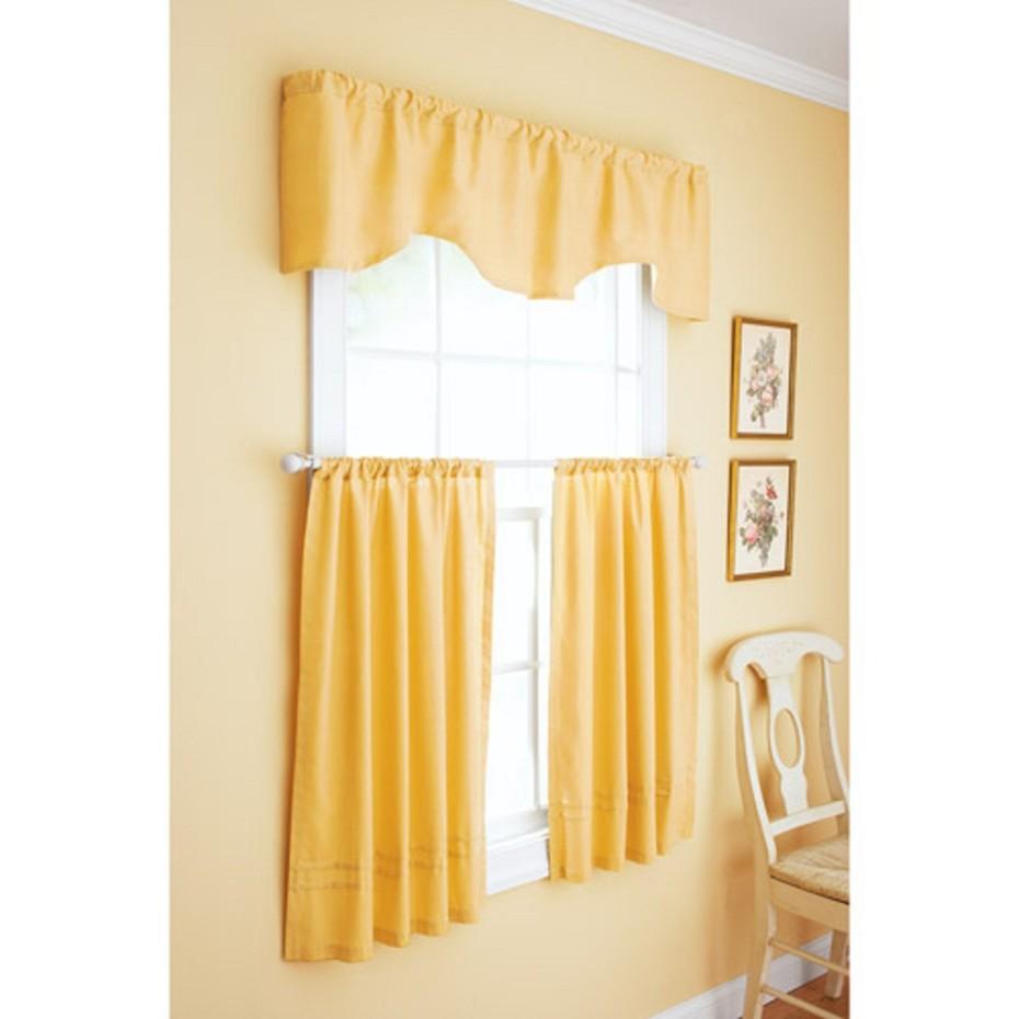Yellow kitchen curtains Photo - 5