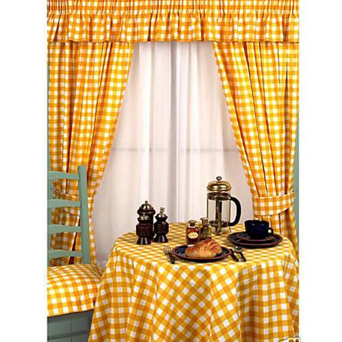 Yellow kitchen curtains Photo - 7