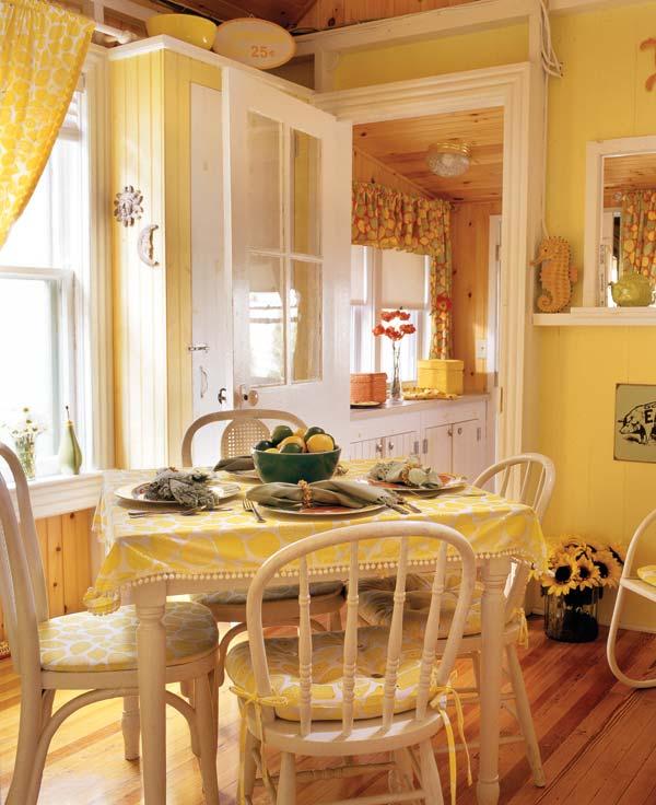 Yellow kitchen curtains Photo - 8