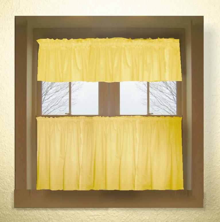 Yellow kitchen curtains valances Photo - 1