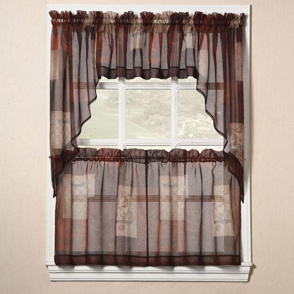 Yellow kitchen curtains valances Photo - 11