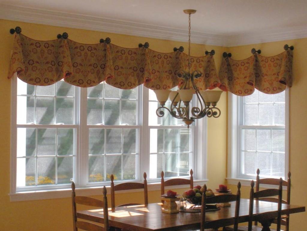 Yellow kitchen curtains valances Photo - 4