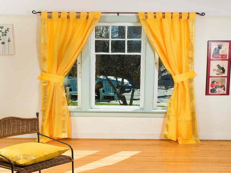 Yellow kitchen curtains valances Photo - 8