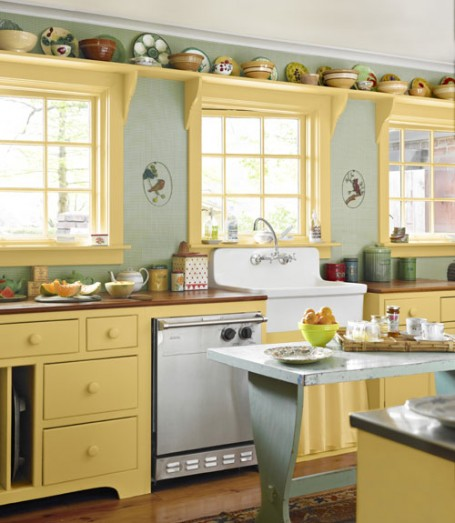 Yellow kitchen valance Photo - 5