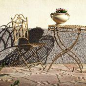 Wrought iron kitchen table