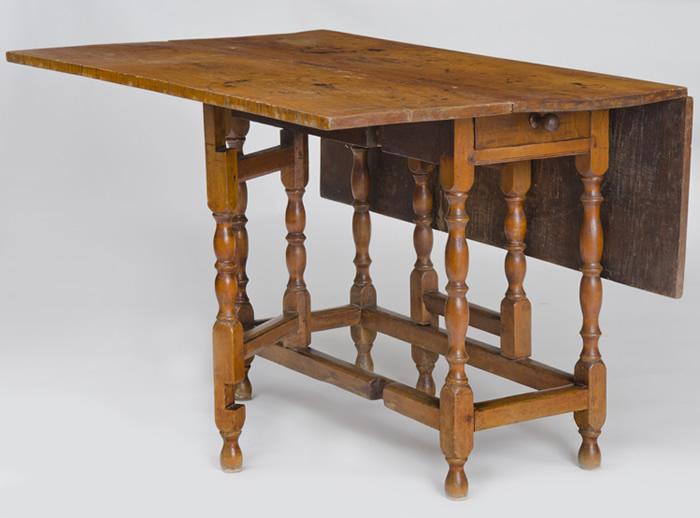 Antique drop leaf kitchen table photo - 3